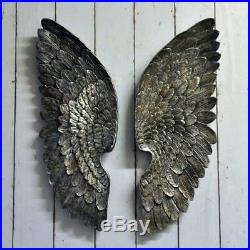 Pair of ANGEL WINGS Wall Decor Boudoir Gilt Ornate Gold or Silver Large 700mm