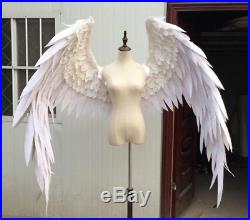 Pro High-Quality White & Black Feather Devil Angel Halloween Wings Model Large