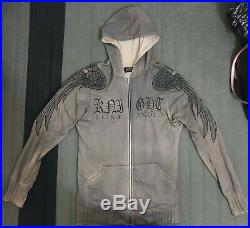 RARE Jaded by Knight Lost Angels Winged Hoodie Hand Made Men's L Large