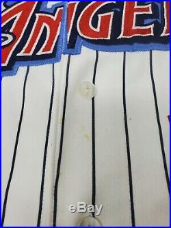 Rare Vintage 90s Majestic Anaheim Angels Disney Wing Pinstripe Jersey XL X LARGE