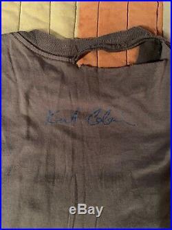 Rare Vintage Nirvana Kurt Cobain Angel Wing The End of Music Distressed Tshirt