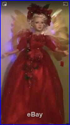 """Red Moving Angel With LED Wings 32"""""""