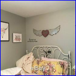 Rustic Angels Wings Wall Decor Metal Wood Distressed Barn Farmhouse Country Art