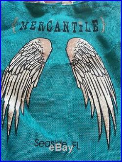 Seaside Florida Canvas Beach Bag Angel Wings