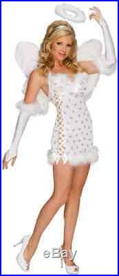 Sexy Angel Playboy White Fancy Dress Up Halloween Sexy Adult Costume withWings