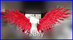 Sexy Red Angel Wings Large Feather Wings Stage Cosplay Costume