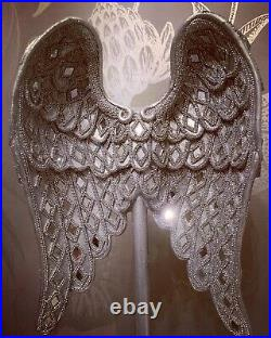 Silver Glitter mirror Angel Wings Home Decoration