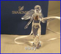 Swarovski Faceted Crystal Annual Ed. Holiday Angel withLarge Wings 2012 MIB