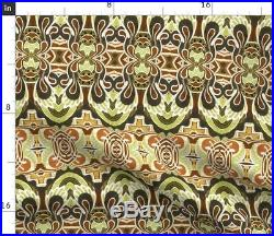 Tablecloth Wings Angels Autumn Deco Nouveau Swirls Cotton Sateen