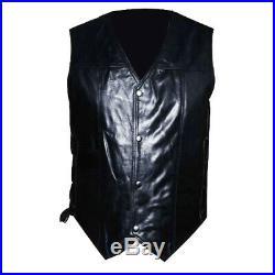 The Walking Dead Daryl Dixon Angel Wings Leather Vest Jacket