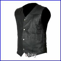 The Walking Dead Governor Daryl Dixon Angel Wings Genuine Cowhide Leather Vest