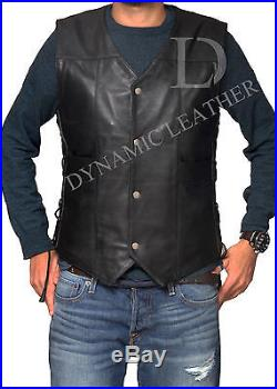 The Walking Dead Governor Daryl Dixon Angel Wings Leather Vest Jacket