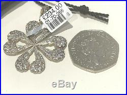 Thomas Sabo Extra Large Cz Pave Angel Wings Heart Four Leaf Clover Pendant £234