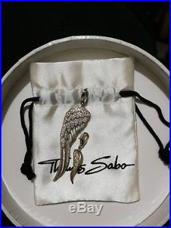 Thomas Sabo Glam & Soul Very Large Angel Wing Feather Pendant Set With Cz Stones