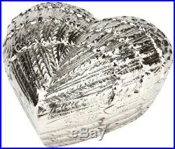 Urns UK Cremation Memorial Heart Keepsake Urn Angel Wings, Silver 5 Large