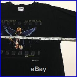 VTG RARE 1999 Kurt Cobain Nirvana Angel Wings The End Of Music Band Shirt size L
