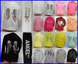 Victoria Secret Bling Hoodie & Sweat Pants Set Supermodel Essentials Angel Wings