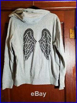 Victoria Secret Hoodie Sz Large Angel Wings On Back