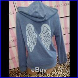 Victoria's Secret Angel Wing Bling Hoodie NWT! Rare Color! Sz LRG BLUE