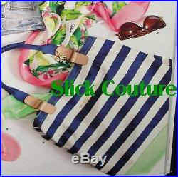 Victoria's Secret TOTE School BAG Beach Supermodel Stripe Convertible Angel Wing