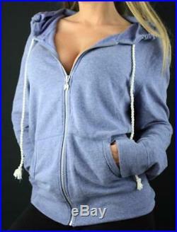 Victoria's Secret VS Angel Lounge Full Zip Hoodie Sequin Wings Fleece Sweatshirt