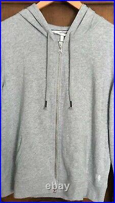 Victorias Secret L Angel Wing Sequin Hoodie Sweatshirt Full Zip Euc