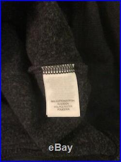 Victorias Secret L XL Angel Wing Gold Sequin Charcoal Gray Hoodie Sweatshirt Euc