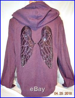 Victorias Secret Supermodel Essential ANGEL WING SEQUINS BLING HOODIE NWT L