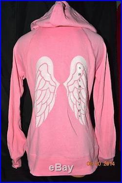 Victorias Secret Supermodel Essentials Angel Wing Sequins Bling Hoodie NWT L