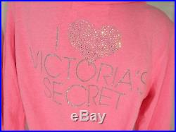 Victorias Secret Womens Large Hoodie Sweatpants Angel Wings Pink Track Suit