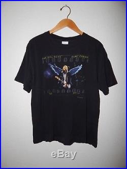 Vintage 1999 Kurt Cobain Nirvana Angel Wings Single Stitch T-shirt Size Large