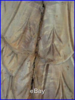 Vintage Carved Wooden Angel Wings Large Primative Folk Art