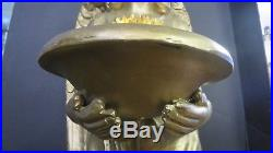 Vintage Large Angel Statue Lamp 48 Removable Wings