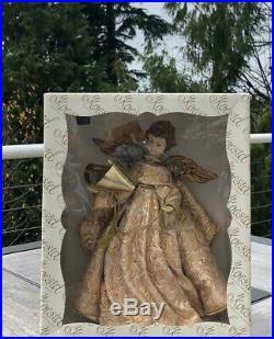 Vintage Large Western Germany Koestel Wax Head Angel Christmas RARE Wooden Wings