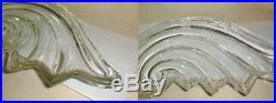Vintage large elegant centerpiece bowl angel wing wave shell beautiful 19