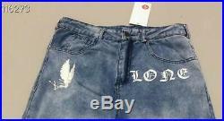 Vlone jeans smoke demon angel wings 19SS jeans