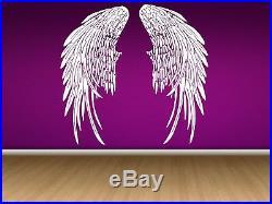 Wall Room Decor Art Vinyl Sticker Mural Angel Wings Heaven Big Large AS197