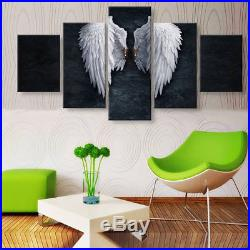White angel wings 5 Pieces canvas Wall Art Picture Poster Home Decor