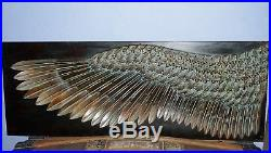 Wing of Icarus Metal Wall Hang Sculpture Angel Wing Copper Bronze Plated Large