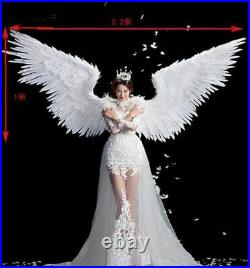 Women Wings Party Props White Feather Devil Angel Halloween Wings Large Cosplay
