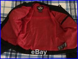 Womens Harley Davidson Road Angels Black Red Jacket Wings Studded Large