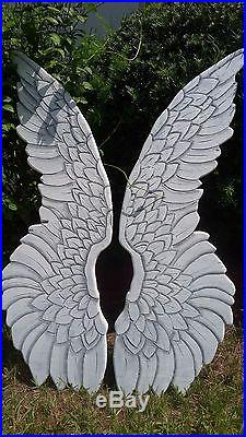 Wood Carved Angel Wings OOAK Large and Beautiful USA Made by Heather MBC Designs