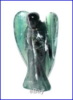X-Large Fluorite Healing Power Aura Angel Wing Meditation Healing Energy-582 GMs