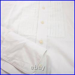Yves Saint Laurent White Ruffle Front Men's Tuxedo Shirt Size 16 Large