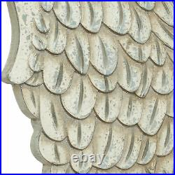Zimlay Large Distressed White Angel Wings Wood Set Of 2 Wall Art 81480